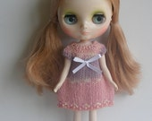 Handknit Sweater Dress for Middie Blythe - Peach and Lilac