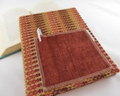 Earthy Tessalations - Composition Book Journal Cover with Pocket - Sienna Spice Brown Tan