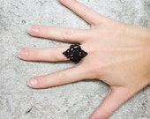 Lace ring - Crow - Black