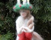 Needle Felted Santa Lucia Tree Topper, Custom
