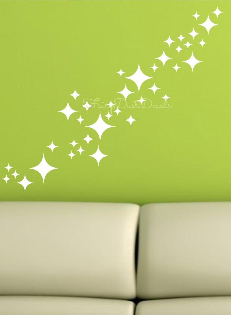 star wall decals diamond star decals retro star design star