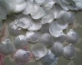 Vintage Pale Blue Seashell Sew On Sequins