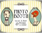 INSTANT Dowload DIY. Printable PDF. Photo Booth Sign. Photo Booth Prop. Photobooth Prop. Photo Booth.Vintage Retr0