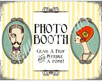 INSTANT Dowload DIY. Printable PDF. Photo Booth Sign. Photo Booth Prop. Photobooth Prop. Photo Booth.Vintage Retr0