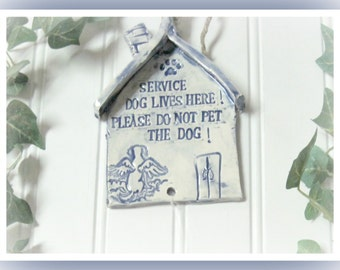 Service Dog Plaques Signs Personalized  Stoneware Home Fronts