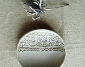 Laced White Handmade Little Plate  - Stoneware (grès) Plate - Wedding gift