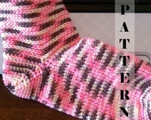 Crochet Sock Womens Sizes Customizable - Crochet Pattern 529  INSTANT DOWNLOAD