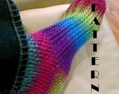 Ladies Crochet Toe-Up Sock Pattern 518  INSTANT DOWNLOAD