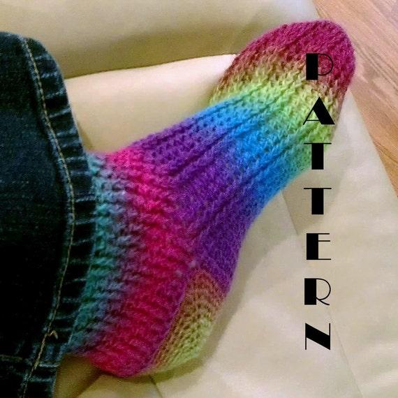 Crochet Socks Patterns Toe Up : Ladies Crochet Toe-Up Sock Pattern 518 by PlayingWithFiber