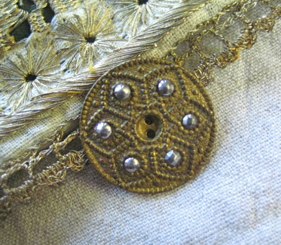 Cut Steel and Brass Victorian Buttons