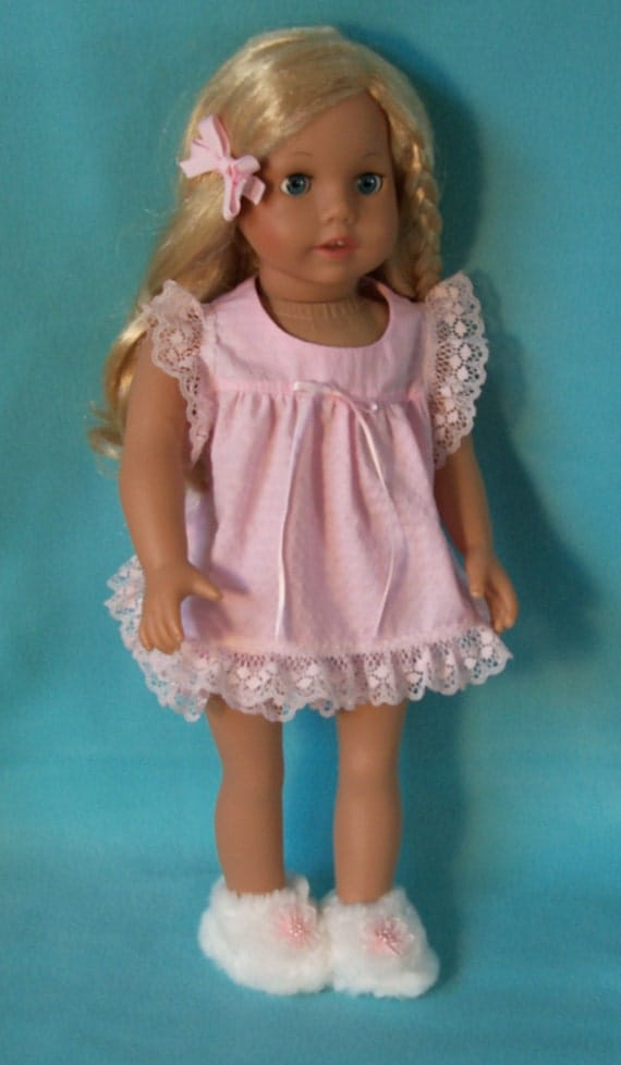1970s American Girl Doll Julie Pink Baby Doll Pajamas And