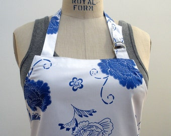 Kyoto Flowers Chef's Apron-Reserved for Cindi