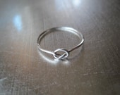 20 Percent off SALE  Sterling Silver Knot Ring