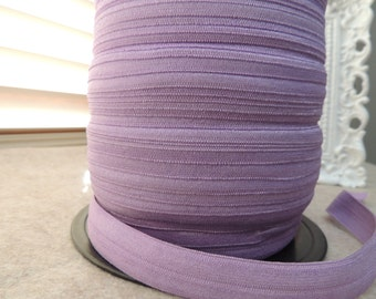 "5/8"" Inch Fold Over Elastic - 5 Yards of Purple Fizz FOE"