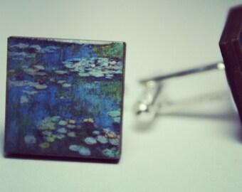 Nympheas Water-Lilies Claude Monet Cufflinks