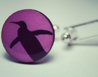 Penguin Cufflinks ~ Gift Mens Accessories Animals Travel