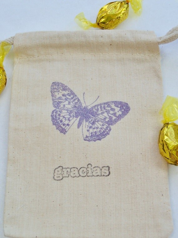 Wedding Gift Bag Ideas Mexico : 10 Butterfly Mexican Wedding Favor Gift Bag, Mariposa, 4X6 Muslin Bag ...