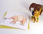 Elephant Kiss Greeting Card