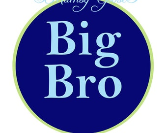 Big Brother Sticker Boy Stickers Waterproof Big Bro