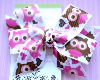 I love Owls Classic Diva Bow