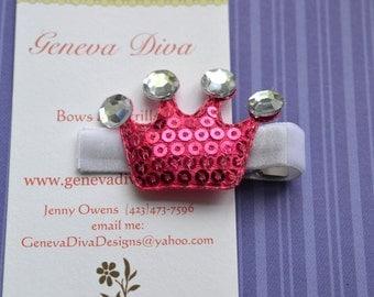 Hot Pink Princess Crown Hairclip