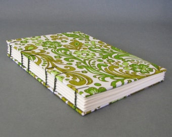 Green Swirls Journal, Ready To Ship