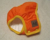 Toddler's Cloth Trainer -  Training Pants -size 3 waterproof prefold trainers,  Orange with Yellow trim