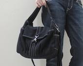 Handmade Women Handbag Shoulder Bag, Sling Bag, Cross body bag Gift Ideas for her, For Kid - Mini Classic in Black