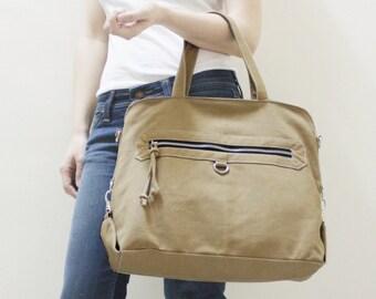 New Year SALE - 20% OFF Wisey in Khaki / Messenger / Handheld / Document bag / Laptop / working Bag / Purse / Handbag / Women / For her
