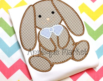 Machine Embroidery Design Applique Bunny Sitting INSTANT DOWNLOAD