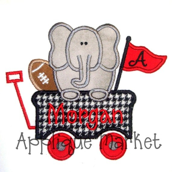Machine Embroidery Design Applique Elephant Wagon INSTANT DOWNLOAD