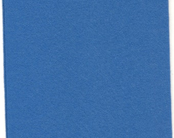 Pure Wool Felt Sheet - Mid Blue - Various Sizes