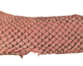 Light PINK Exotic Suede Eco Friendly, CHROME free, real Tilapia Fish Leather Skin. Sold by each skin.