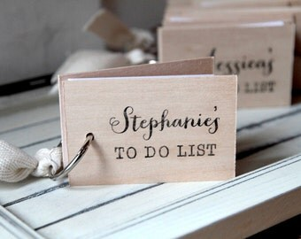 "Bridesmaids Request Notepad / To Do List - Will You Be My Bridesmaid wood mini notepad (3"" x 2"")"