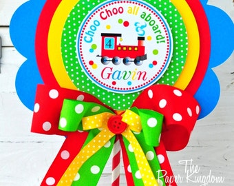 Choo Choo Train Centerpiece, Table Centerpiece, Choo Choo Train Birthday Party
