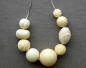 RESERVED for daphne - ivories necklace - vintage lucite