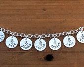 Personalized Charm Bracelet - Custom Mom Jewelry, Personalized Grandma Jewelry, Family Jewelry, Teacher's Gift, Mom Christmas Gift