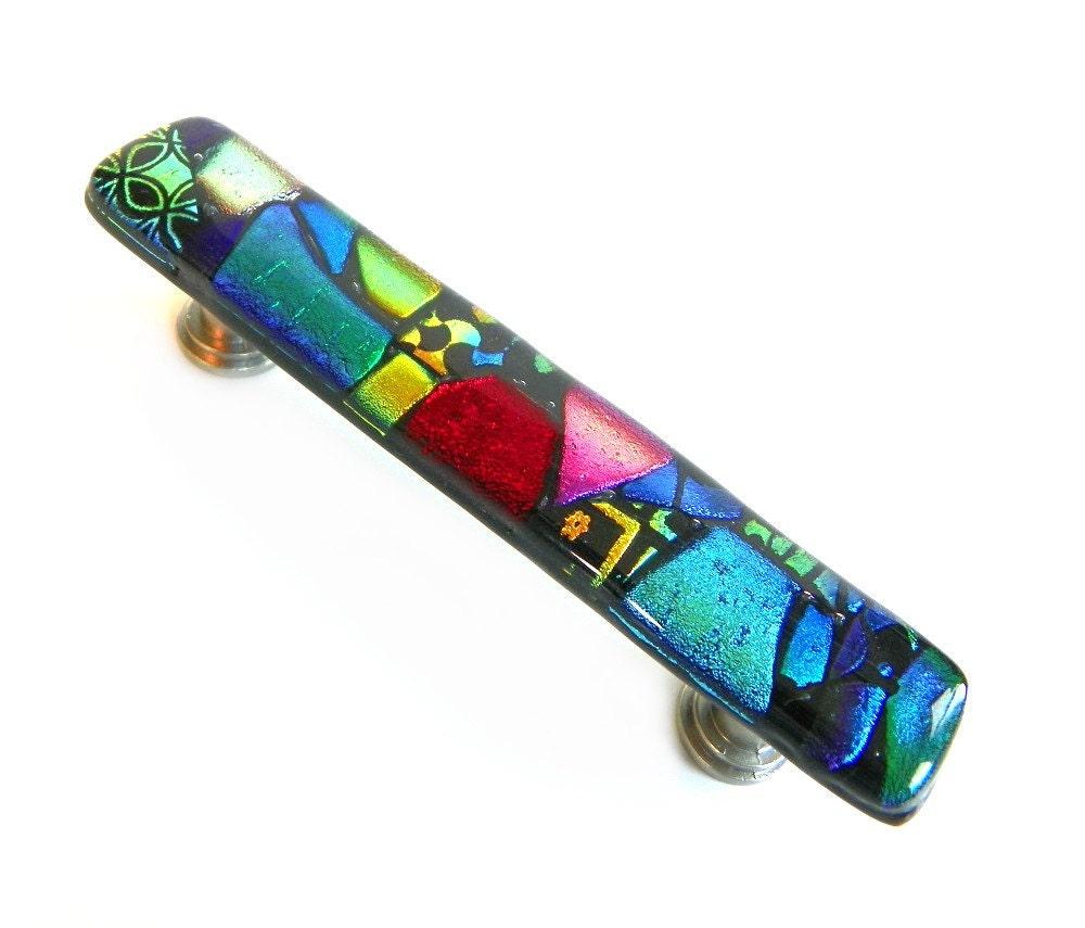 Glass Mosaic Drawer Pulls or Handles Cabinet Hardware. Custom