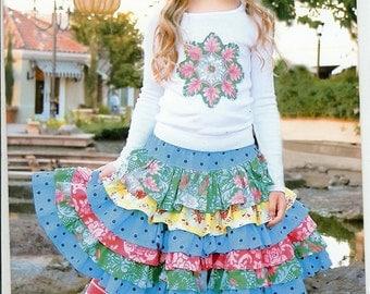 Sale!  The Nie Nie Skirt pattern (PFP018) - Pink Fig