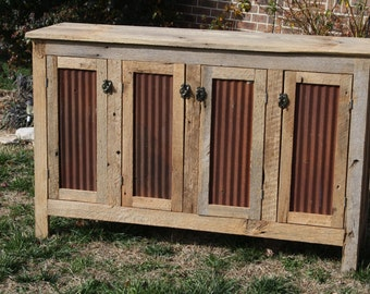 YOUR Custom Rustic Barn Wood Credenza or Sideboard Dresser FREE SHIPPING-RBWCSD1000F