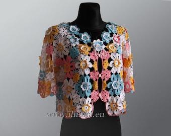 Flowery Cardigan / Crochet Pattern
