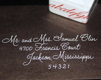 Discount Calligraphy Wedding Envelope Addressing Lavanderia Script