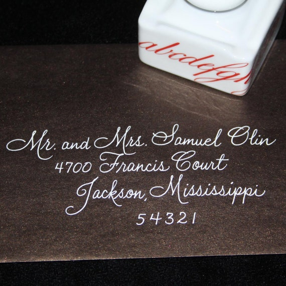 Calligraphy Wedding Envelope Addressing By Artfulcelebrations