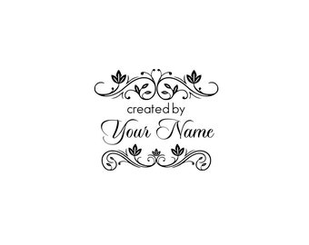 Handle Mounted or Cling Personalized Name custom made rubber stamps C40