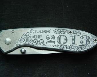 Graduation Knife Hand Engraved Personalized
