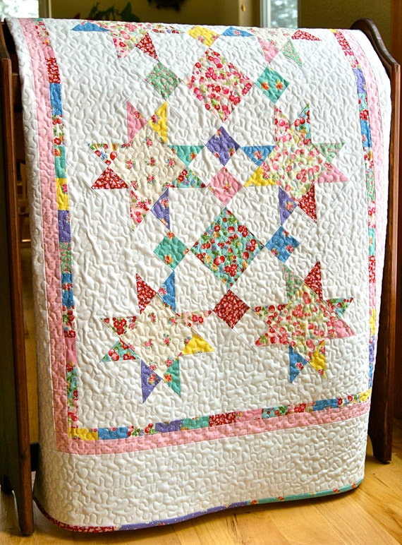 Quilt Baby Girl Handmade Old New 30s By Lecien Crib Nursery