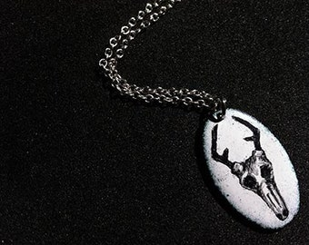 Stag skull necklace