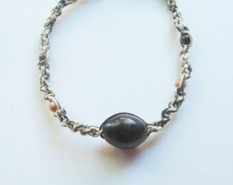 twisted hemp necklace, unisex