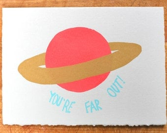 You're Far out blank greeting card