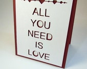 All You Need Is Love Pop Up Greeting Card